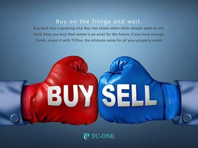 """""""Buy on the fringe and wait. Buy land near a growing city! Buy real estate when other people want to sell. Hold what you buy!""""  Real estate is an asset for the future. If you have enough funds, invest it with TCOne, the ultimate name for all your property needs."""