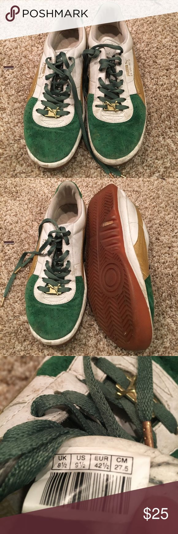 Men's green Puma shoes Green GV special SE Puma shoes for men. Preowned condition size us 9.5 Puma Shoes Sneakers