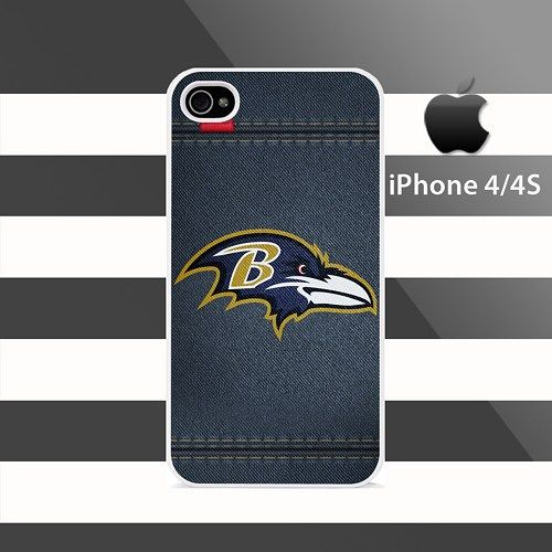 Baltimore Ravens leather Line Stripes iphone 4 4s Rubber Case Cover