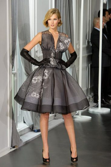 Yay! the silhouette that made him famous 60 years ago is back! ...Christian Dior Spring 2012
