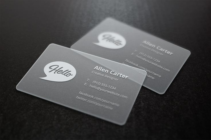 A high detailed business cards mock-up to showcase your business card design as printed on translucent plastic...