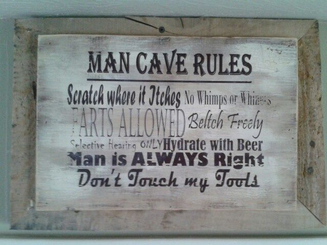 Man Cave Rules Signs : Bar pub man cave signs taylorsigns