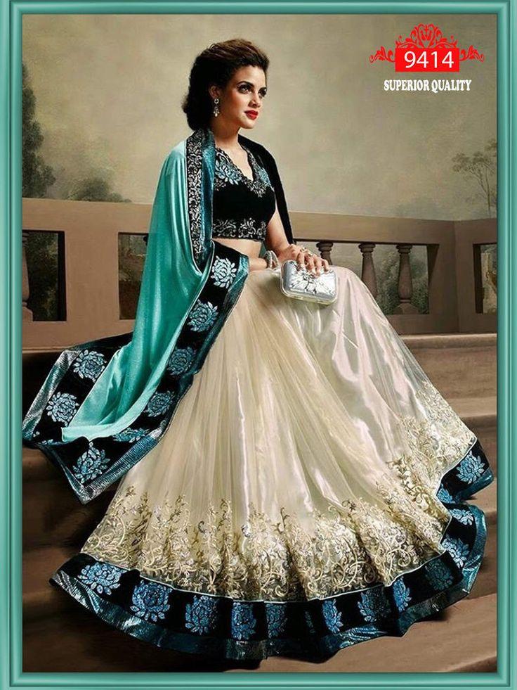 INDIAN DESIGNER PARTY WEAR SAREE WEDDING BRIDAL BOLLYWOOD PAKISTANI WOMEN SARI #almeercreation #SareeSari