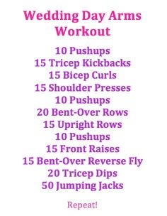 Not so much for a wedding, but still looks like a good condensed workout.