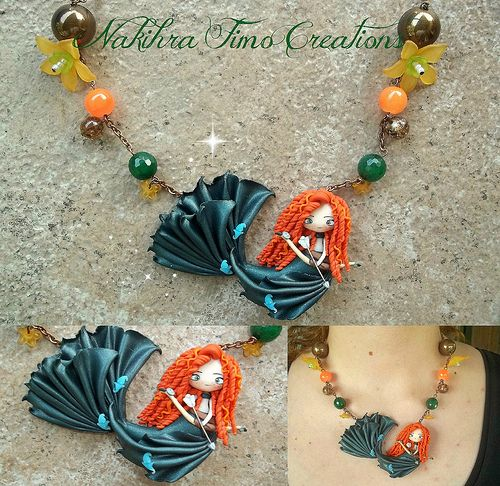 Mermaid Merida polymer clay by Nakihra Fimo Creations, via Flickr