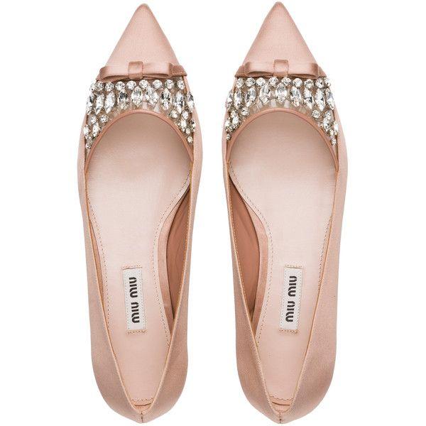 Miu Miu Ballerina found on Polyvore featuring shoes, flats, heels, footwear, sapatos, miu miu, decorating shoes, flat shoes, ballet flats and ballerina flats