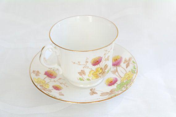 Stunning Vintage flowered teacup  Ornate painted by TheGarnishRoom