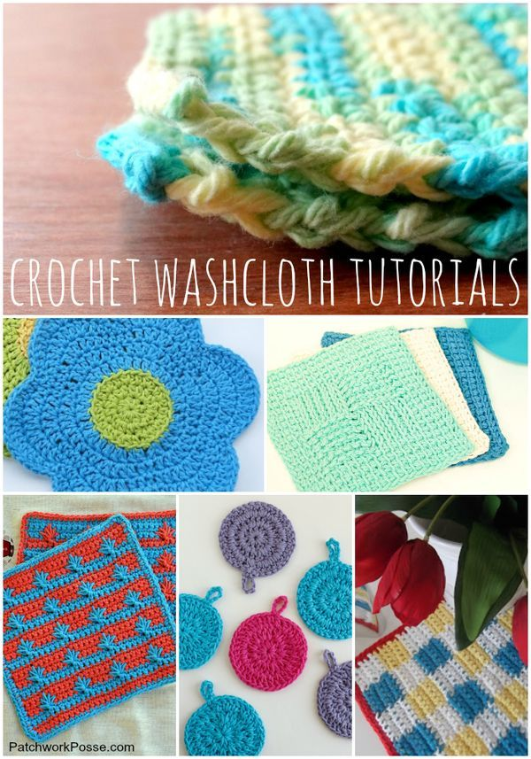 free crochet washcloth patterns-- such a great collection for when I need some hand crochet time.