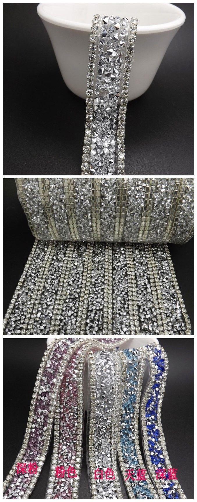 Свадьба кристалл горного хрусталя кромкооблицовочный, Много цветов, 2 ярды / много, Фантазии свадебные платья декоративная отделка, Свадебный торт декоративная отделка купить на AliExpress
