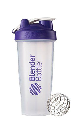 Bike Water Bottles - BlenderBottle Classic Loop Top Shaker Bottle Clear Purple 28 Ounce ** Learn more by visiting the image link.