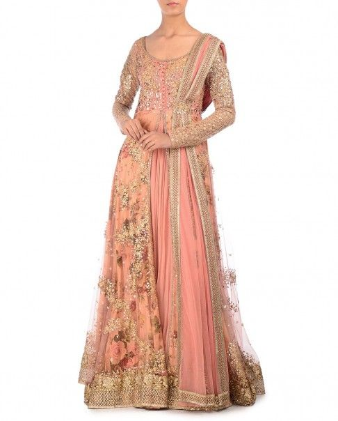 Kylee Anarkali Suit - exclusively.in http://www.exclusively.com/product/salmon-pink-anarkali-suit-with-sequin-embellishments-m-ky20feb153015-kylee