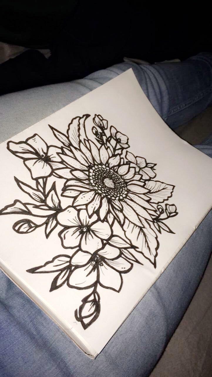 d82ef8222 Pin by Danielle Canady on PIERCINGS & TATTOOS | Tattoo drawings, Sunflower  tattoo design, Body art tattoos