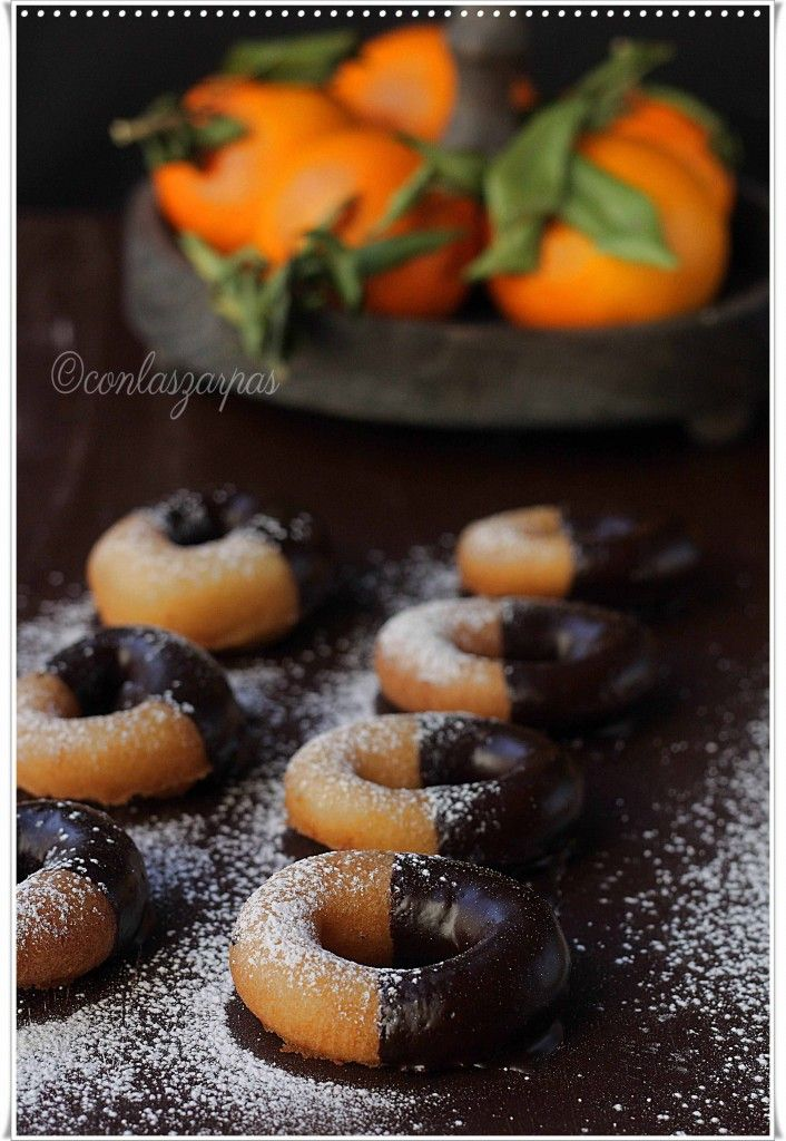 Rosquillas de naranja al chocolate