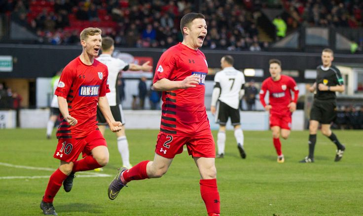 Queen's Park's Conor McVey celebrates his goal during the SPFL League One game between Ayr United and Queen's Park.