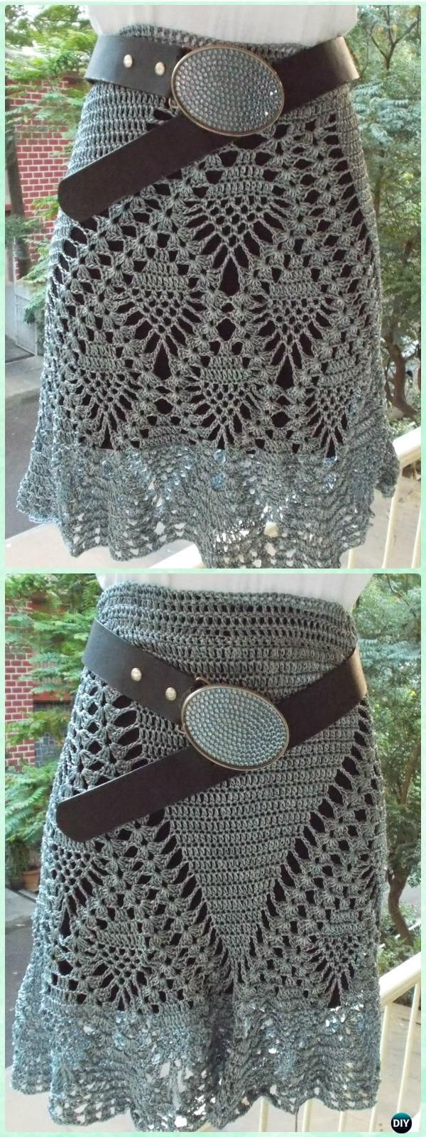 Crochet Pineapple Skirt Free Pattern - Crochet Women Skirt Free Pattern