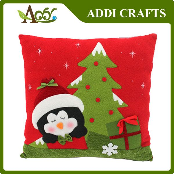 Custom OEM Christmas decoration made in China self designed cute Christmas pillow Item No.:AD-SD140183 E:jilen@addicrafts.com,Pls indicate that you know us from Pinterest while you contact us. You will get discount for it.