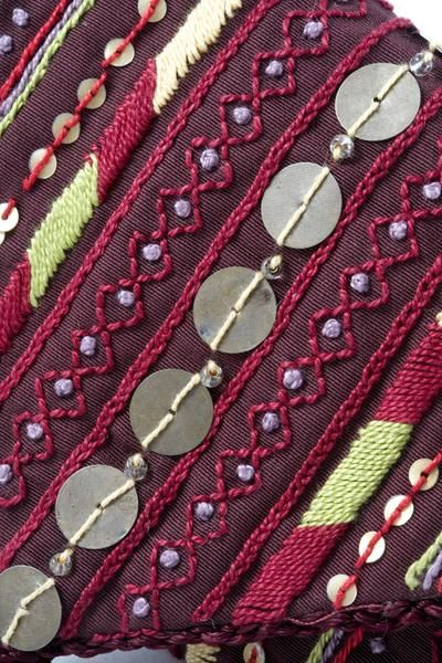 Bedouin embroidered jewelry holder