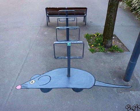 """Oak Oak, """" Mechanical mouse"""", France"""