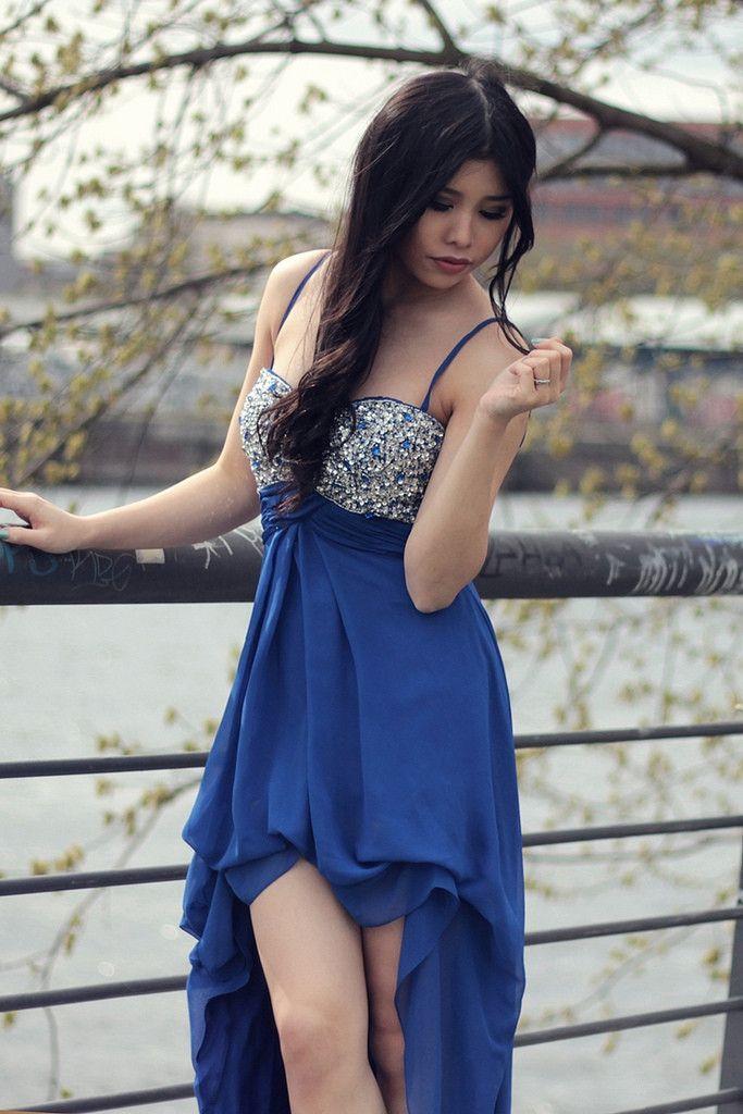meinropa,abiball-/abschlussballkleider, abendkleider 2013,prom dress,high low,blue