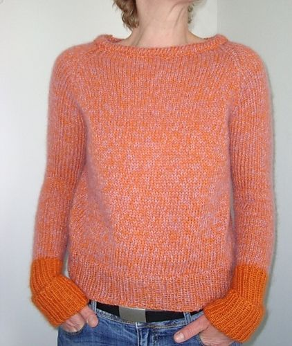 Or hold two strands together to make this pullover. .