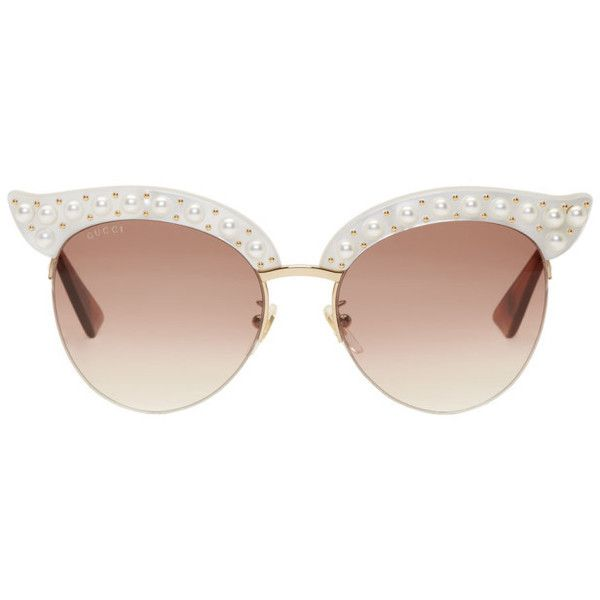 Cat Eye Guicci Sunglass Frame With Nose Pads