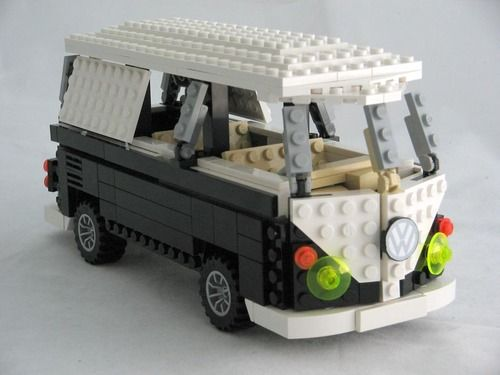 LEGO VW Bus (with instructions)  via loveretrocolour:nickmcglynn