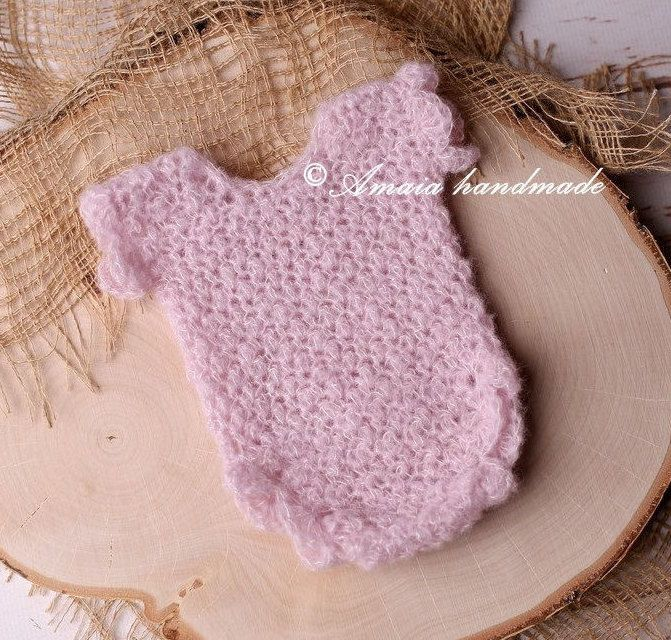 Baby girl romper - crochet newborn romper - beautiful newborn girl photo prop - Multiple colors - Made to order by Amaiahandmade on Etsy