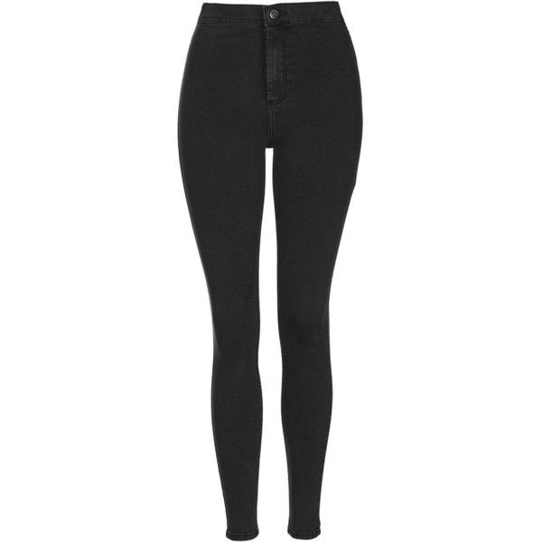 TOPSHOP MOTO Washed Black Joni Jeans (34.695 CRC) ❤ liked on Polyvore featuring jeans, pants, washed black, high rise jeans, black jeans, skinny jeans, topshop and highwaisted jeans