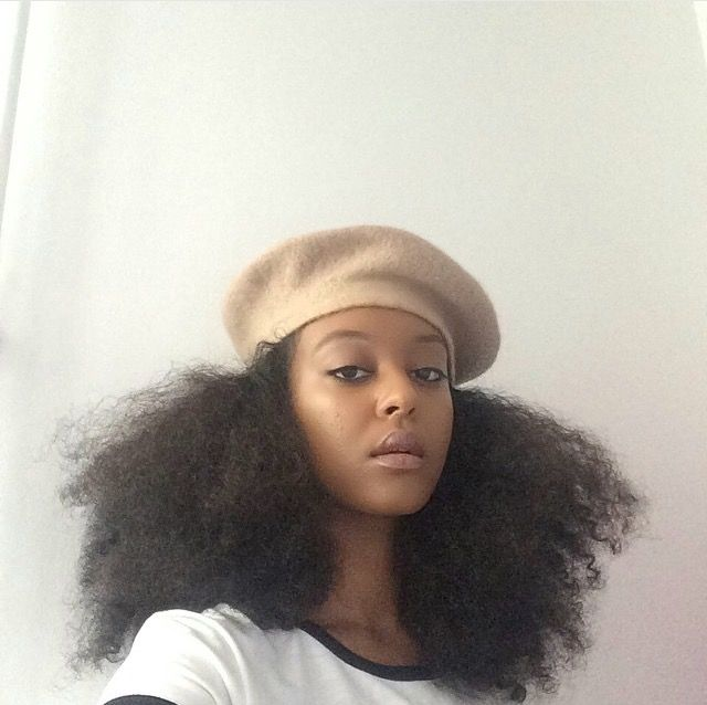 @ mmalaya || big hair. natural hair. natural hair and berets. Stylish hats for big curly hair.