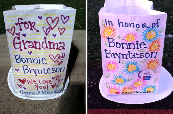 Ideas For Decorating Luminaria Bags For Relay For Life