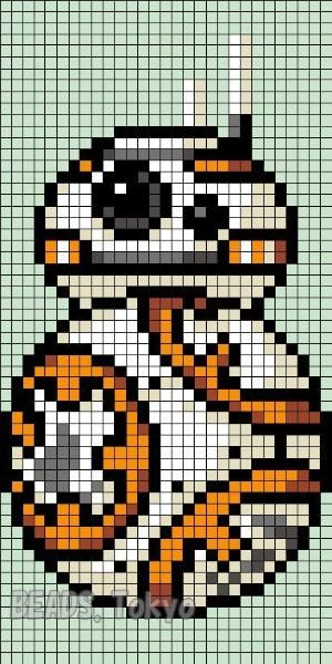 BB-8 Star Wars: The Force Awakens Perler Bead Pattern - BEADS.Tokyo by penelope