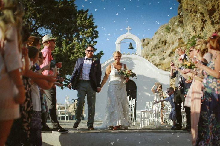 #GoldenAppleWeddings - #DestinationWedding In St. Paul #Lindos #weddingceremony #beachwedding #weddingplanners #chapel #Greece #Rhodes #wedding