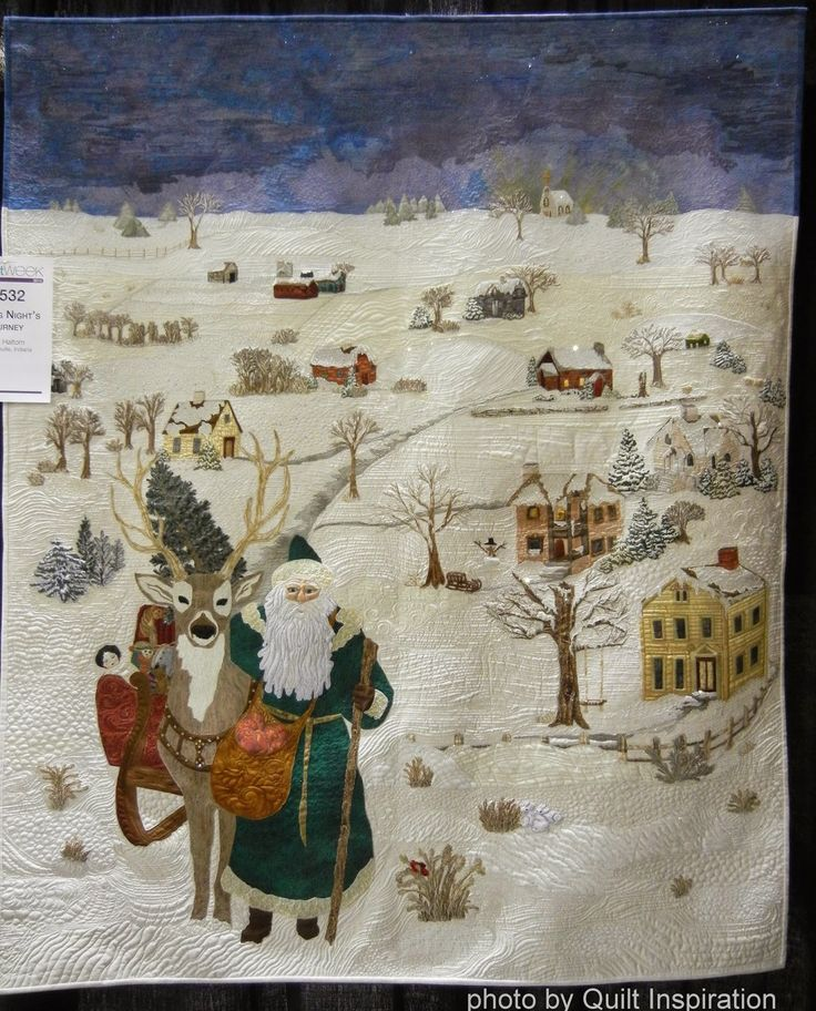 A Long Night's Journey by Linda Haltom, 2014 American Quilters' Society Show - Phoenix.  Photo by Quilt Inspiration