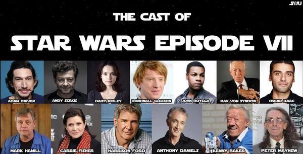 The Cast of Star Wars Episode VII