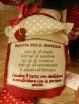 """CUSCINO CON DEDICA """"RICETTA PER IL SUCCESSO"""""""