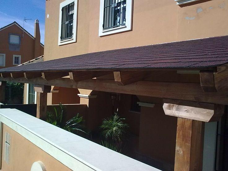 Porches garajes marquesinas pergojardin decoracion - Cenadores de madera para jardin ...