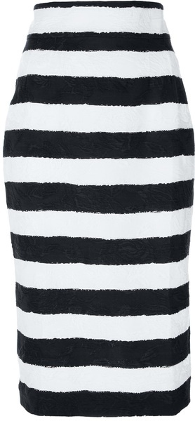 DOLCE GABBANA   Striped Pencil Skirt - Lyst