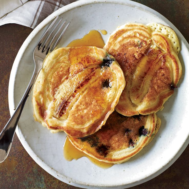 Tyler Florence made these pancakes at home one weekend morning with his son Hayden. They're a slight variation on a recipe from his book, Tyler Floren...