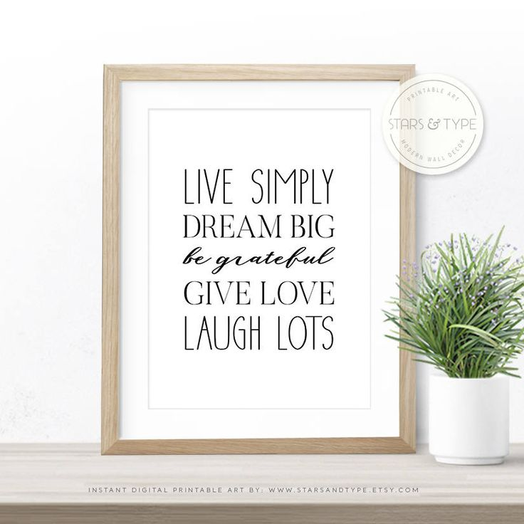 Best 25 family rules printable ideas on pinterest house for Live simply wall art