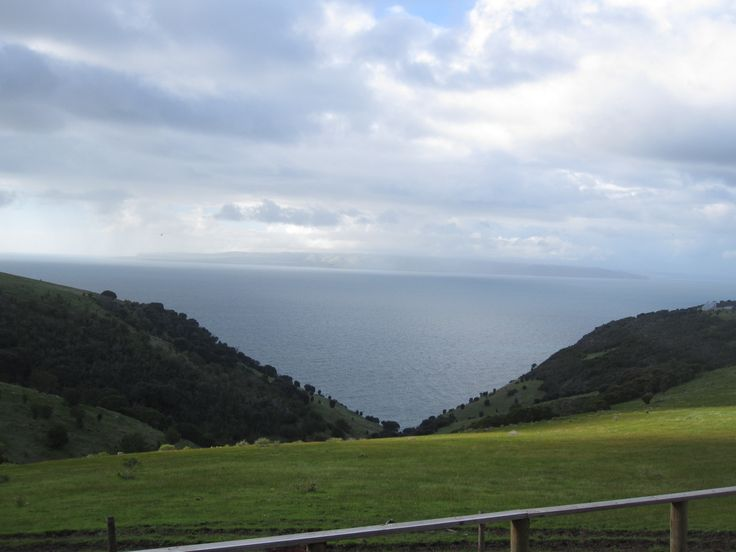 In that valley, you'll see what looks like an island. It's actually the South Australian coastline across the water.