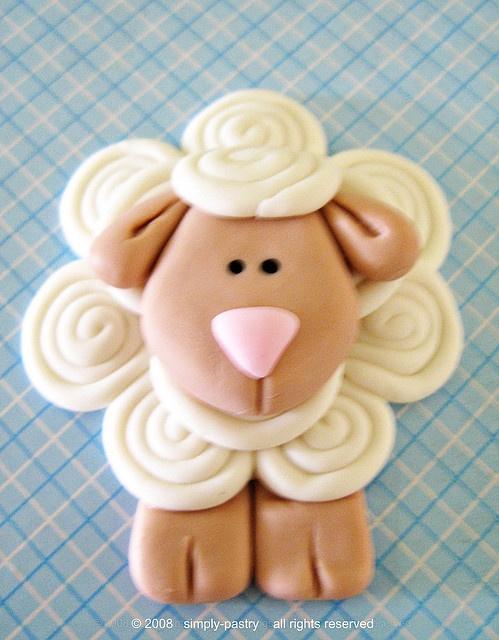 *SUGAR ART ~ fondant cake topper - lamb by simply-cupcakes, via Flickr
