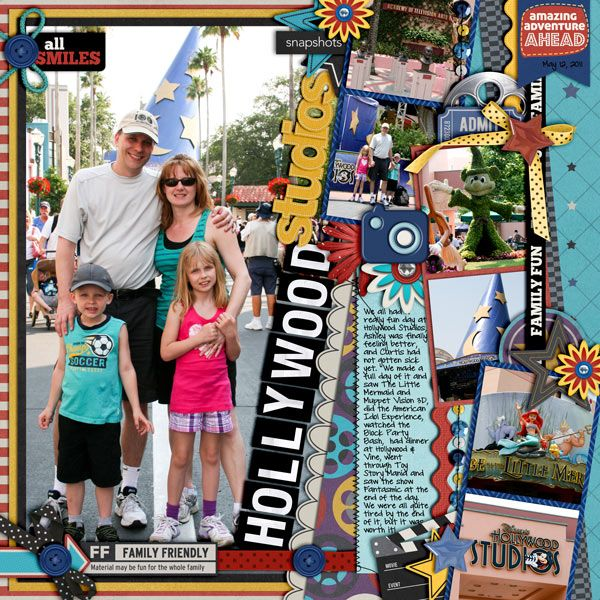 Hollywood Studios - Scrapbook.com: Scrapbook Ideas, Scrapbook Disney, Cindy Schneider, Disney Layout, Florida Scrapbook, Scrapbook Layout, Disney Scrapbook, Hollywood Studios Scrapbook, Too Hollywood Studios