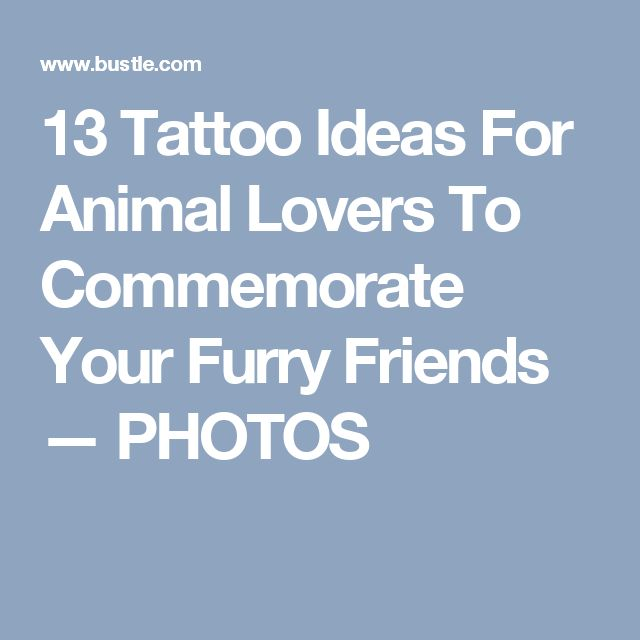 13 Tattoo Ideas For Animal Lovers To Commemorate Your Furry Friends — PHOTOS