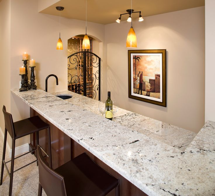 White Granite For This Home Bar Area Dahlia White Vail