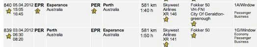 Skywest Airlines (Australia) Flight Details