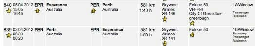 Skywest Airlines (Australia) Flight Details