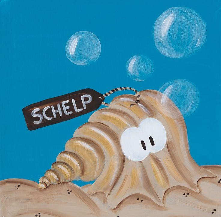 Kinderschilderij Beessie Schelp