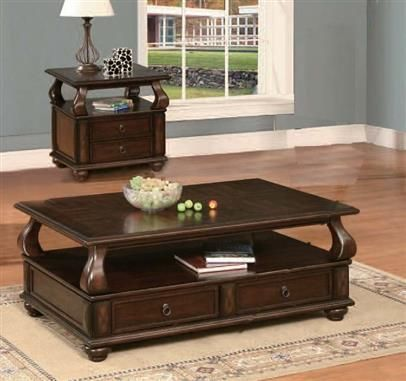 Amado Walnut Wood Marble Top Coffee/End Table Set & 91 best Coffee Table sets images on Pinterest | Coffee table sets ...