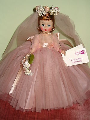 RARE Madame Alexander Pristine Pink Cissette Bride Doll | eBay