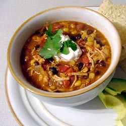 Lion House Chicken Taco Soup. This is THE BEST chicken tortilla soup I've ever had!! Super easy to put together, inexpensive and delicious. Great for a cool fall night. I added some green Thai Chili Pepper for a little extra kick. YUM!!!